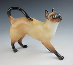 Royal Doulton HN 2660 Siamese Cat Standing Style 1 Figurine EXCELLENT HN2660