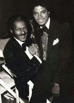 Chuck Berry and M.J.
