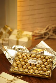 Ferrero Rocher. I can eat that whole box :)