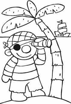 coloring page ko the pirate florinehorizon. Preschool Pirate Theme, Pirate Activities, Preschool Crafts, Preschool Coloring Pages, Coloring Pages For Kids, Coloring Sheets, Pirate Crafts, Pirate Art, Thema Hawaii