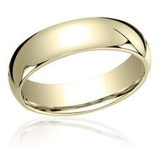Classic 6mm Comfort fit Slightly Domed Plain Wedding Band In 14K Yellow Gold LCF16014YG-IBMD
