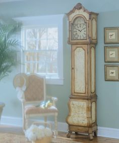 Hand-painted Grandfather Clock