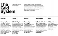 This image explains more or less how the Grid system works. I'ts all about general placement of articles and paragraphs in a professional piece. If not done properly, the piece can come off as cluttered. Graphic Design Layouts, Graphic Design Inspiration, Layout Design, Design Ideas, Swiss Design, Grid System, Typography, Lettering, Page Layout
