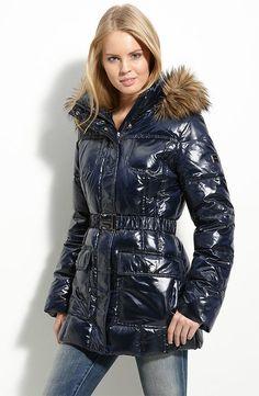 Puffy Jacket, Fur Jacket, Raincoats For Women, Jackets For Women, Women's Jackets, Winter Jackets, Nylons, Down Puffer Coat, Puffer Coats