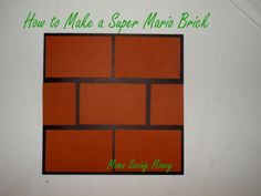 How to make Super Mario blocks for wall decorations. Have a Super Mario theme birthday at a low cost. Frugal living with a small birthday budget.