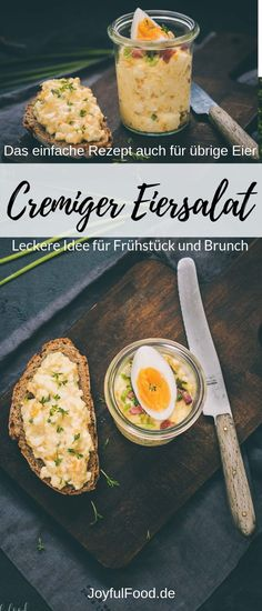 Perfect for breakfast, brunch or as a dip. Also ideal as a waste disposal for too many eggs at Easter. With recipe. Egg Recipes, Brunch Recipes, Appetizer Recipes, Salad Recipes, Breakfast Recipes, Juice Recipes, Free Recipes, Creamy Eggs, Breakfast Desayunos