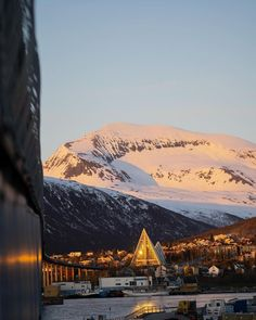 """Visit Norway on Instagram: """"☀️A sleepless night in Tromsø ☀️ Enchanted by the golden light of the midnight sun, bathing the Arctic Cathedral and the Peak in glittering…"""" Visit Norway, Tromso, Midnight Sun, Sleepless Nights, Beautiful World, Arctic, Enchanted, Bathing, Cathedral"""