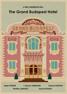 The GRAND BUDAPEST HOTEL 22x16 Wes Anderson by MonsterGallery