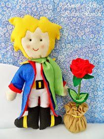 O Pequeno Príncipe e a Rosa, em feltro