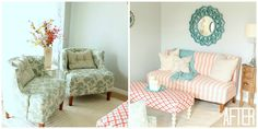 Six Sisters Stuff: Living Room Makeover by Four Chairs Furniture, after shot