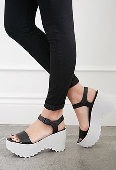 classic fit 57fa9 02719 Ankle Strap Colorblock Wedges   Forever 21 - 2000130329 Everyday Shoes,  Cute Shoes, Me