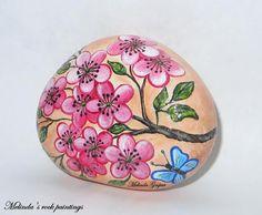 Printemps peint de pierre à la main par MelindaRockPaintings