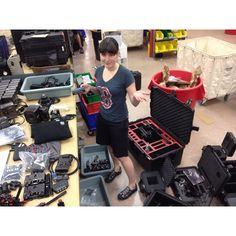 Happy hump day! This is Ally, video expert, receiving one of our big Wednesday orders. #Lensrentals #Freefly #Movi #Red