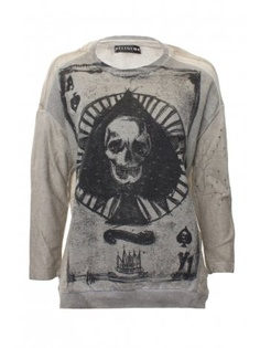 Religion Clothing Sweatshirt Ace of Spade in Feather Grey Baggy Tshirt, T Shirt, Religion Clothing, Luigi, Ace Of Spades, New Model, Shirt Style, Graphic Sweatshirt, Winter Time