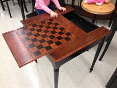 chess table with storage