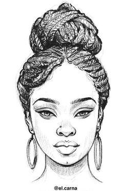 queen tattoo for women african * queen tattoo for women + queen tattoo for women african + queen tattoo for women beautiful + queen tattoo for women small + queen tattoo for women on hand + queen tattoo for women arm + queen tattoo for women wrist Black Love Art, Black Girl Art, Art Girl, Black Girls, Black Women, Girl Drawing Sketches, Pencil Art Drawings, Drawing Faces, How To Draw Braids