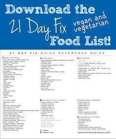 My Vegan and Vegetarian Food List - Amanda J. Bush