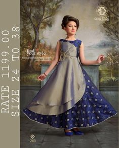 cherry fashion any kids readymade garments in surat children readymade collection wholesale - Krishna Creation Kids Party Wear Dresses, Kids Dress Wear, Baby Girl Party Dresses, Kids Gown, Little Girl Outfits, Little Girl Dresses, Kids Wear, Girls Frock Design, Kids Frocks Design