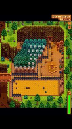 Stardew Farms, Stardew Valley Farms, Stardew Valley Layout, Stardew Valley Tips, Piskel Art, Pixel Life, Stardew Valley Fanart, Farm Layout, Pokemon