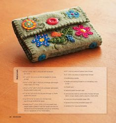 recycled sweater wallet