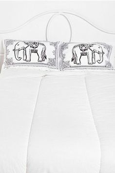 Eastern Elephant Pillowcase - Urban Outfitters. Had to get these.