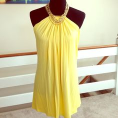 """Spotted while shopping on Poshmark: """"Yellow Sky dress...Great Deal!!!!""""! #poshmark #fashion #shopping #style #Dresses & Skirts"""