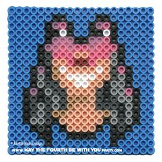 Jar Jar Binks: Star Wars perler beads by May the 4th be with You Party Anette