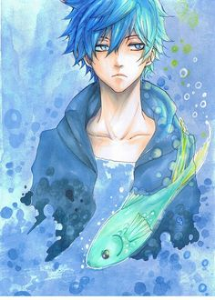 """This picture is a little strange, but I like how the male character's hair and eyes match. Although at times this combination can make the character seem to be """"washed out,"""" in this example it appears to make the character stand out better."""