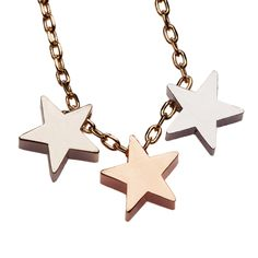 New from Orelia...This short single row necklace features three fabulous gold colour plated stars.  A simple but gorgeous necklace that you will wear again and again.    With a secure spring ring clasp fastening.    This triple star short necklace is a bestseller at Orelia, along with the Chunky Heart short necklace.