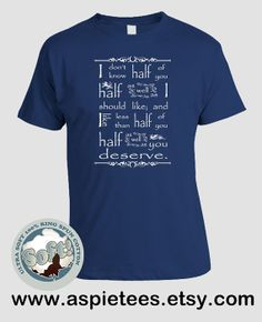 The Hobbit Tshirt LOTR Tolkien Bilbo disappears from by AspieTees, $20.00