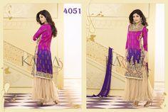 Style: Churidar SuitWork: Embroidered, Resham WorkFabric: Net, Georgette