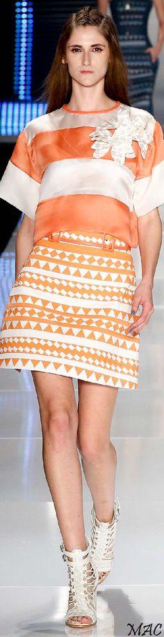 *.* São Paulo Spring 2015 Colcci. Orange & white