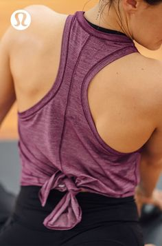 Tune out the distractions in lightweight, sweat-wicking yoga gear by lululemon.