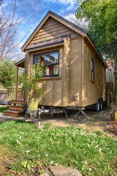 """Gina's """"Sweet Pea"""" tiny house by Portland Alternative Dwellings (plans for sale at the link)"""