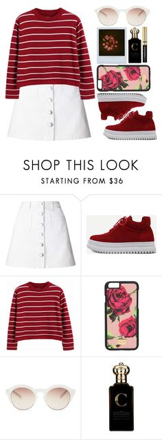 """Roses are red violets are blue🌹"" by ginga-ninja ❤ liked on Polyvore featuring Miss Selfridge, WithChic, Chicnova Fashion, Dolce&Gabbana, self-portrait and Clive Christian"