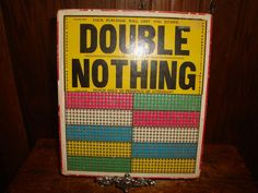 Vintage Punch Board Game Double or Nothing Game of Chance Board Unused
