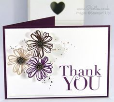 Stampin' Up! UK Demonstrator Pootles - A Flower Shop Pansy Punch Thank You!