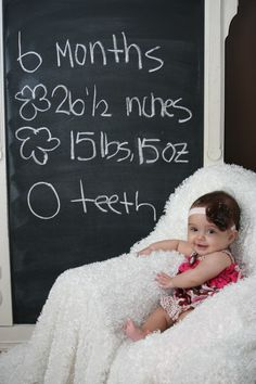 Baby photos - but where to find a large chalkboard?