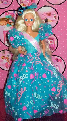 """1993 Birthday barbie. I had the black version of this """"Theresa"""". She was my first black Barbie. I asked for one for Christmas that year. I wanted my Barbie to have friends of all races."""
