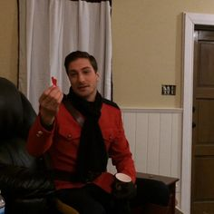 @daniellissing & I - marveling at his incredible aim! #WhenCallsTheHeart