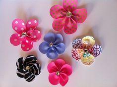 Flower Petals  ribbon sculpture hair clip by SweetTangerineBoutiq, $5.00