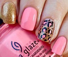 Animal fingernail art