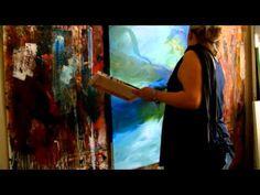 Acrylic Painting Demo Acrylmalerei Spachtelarbeit Spackling - YouTube