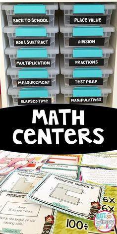 These third grade math centers cover almost every single 3rd grade standard! Perfect for guided math! There are centers included for multiplication, division, area and perimeter, elapsed time, fractions and so much more!