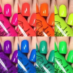 Looking for some summer neon polishes? Moonflower Polish has just what you need!