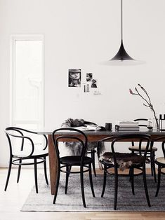 dining room with thonet bentwood chair / sfgirlbybay