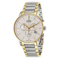 Edox Les Vauberts Chronograph Men's Quartz Watch 10409-35...