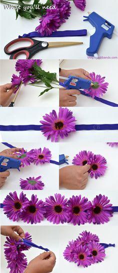 DIY: Flower Headband For Music Festivals