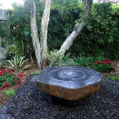 Image result for black basalt outdoor fountain