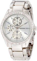 Vernier Women's VNR11090SS Crystal Accent Bracelet Quartz Watch